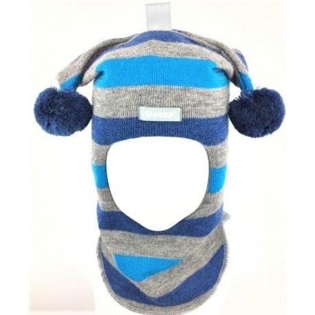 Žaisminga, dryžuota kepurė-šalmas su vilna berniukui 1406/49 new
