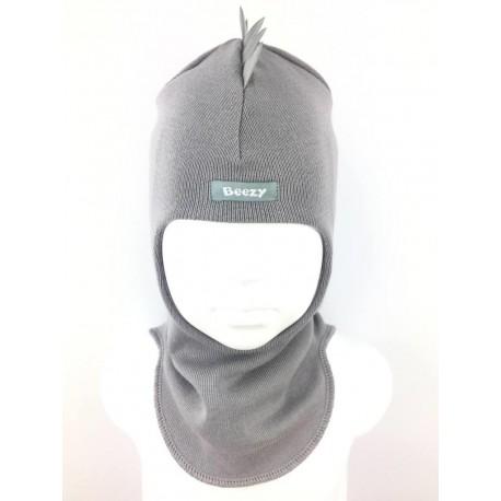 "Demisezoninė pilka kepurė-šalmas berniukui ""Beezy"", 1715-11"