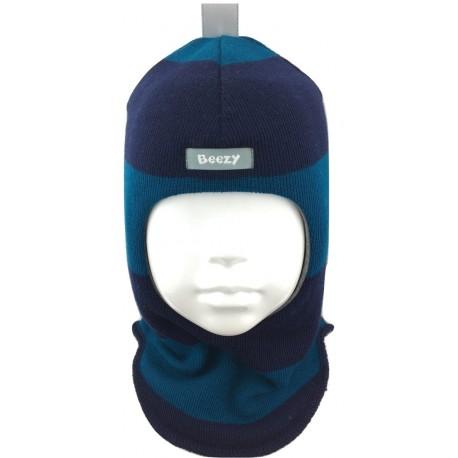 Dryžuota kepurė-šalmas su vilna berniukui 1405/58