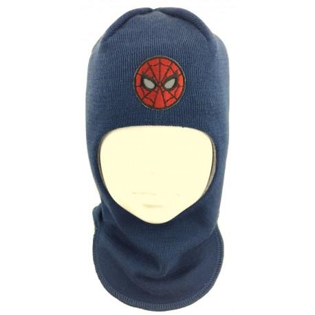 "Mėlyna kepurė-šalmas su vilna berniukui ""Žmogus voras"""