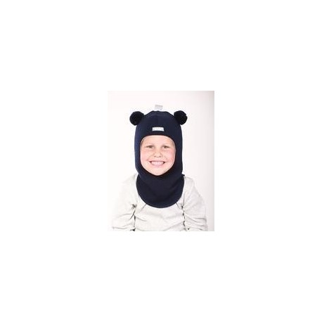 """Tamsiai mėlyna kepurė-šalmas su vilna berniukui """"Meškutis"""" 1402/6"""