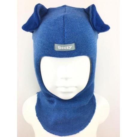 """Mėlyna kepurė-šalmas su vilna berniukui """"Šuniukas"""" 2005/27"""