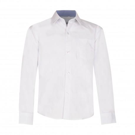 Balti marškiniai ilgomis rankovėmis NORMAL 98-122 d.