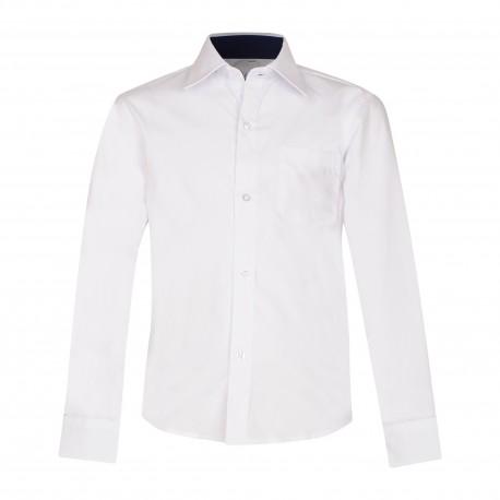 Balti, siaurinto modelio marškiniai ilgomis rankovėmis 128-164 d.