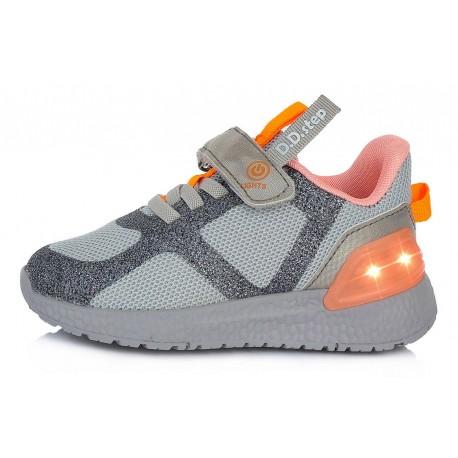 Pilki sportiniai LED batai 24-29 d. F61243CM