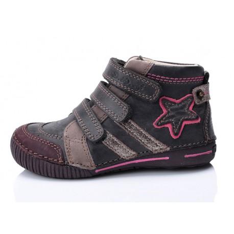Tamsiai pilki batai mergaitei 25-30d.