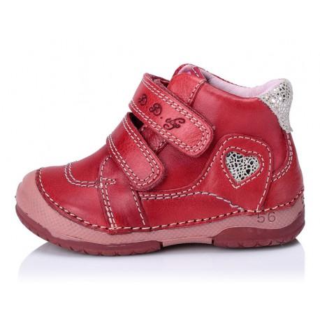 Raudoni batai mergaitėms 19-24 d.