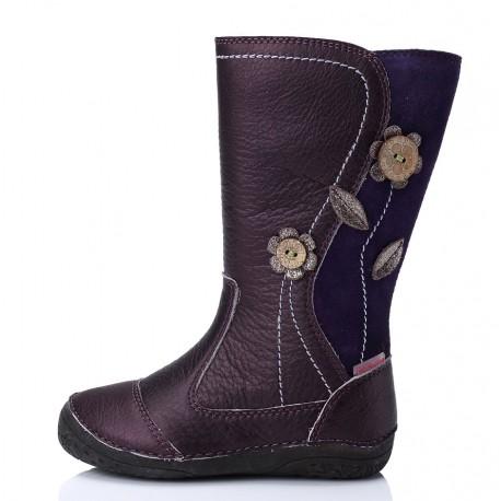 Levandų spalvos aukštaauliai batai su pašiltinimu 25 - 30 d.