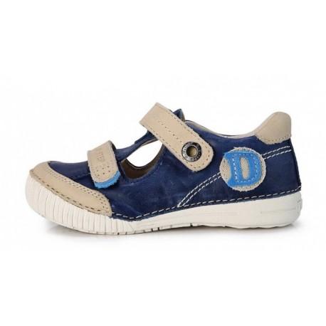 Mėlyni pusiau atviri batai berniukams