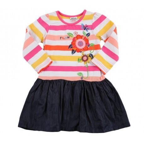 Dviejų spalvų suknelė mergaitėms