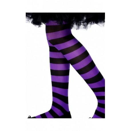 Violetinės dryžuotos pėdkelnės