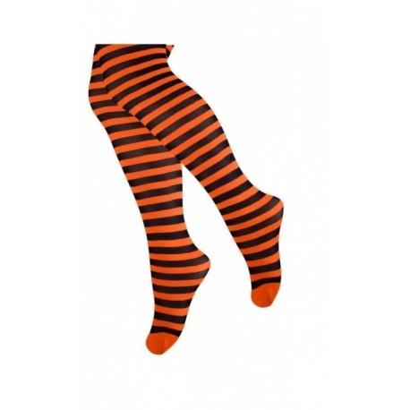 Oranžinės dryžuotos pėdkelnės