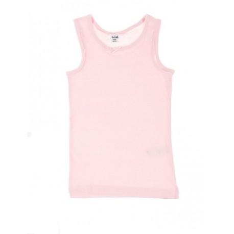Rožiniai FLAMINGO apatiniai marškinėliai be rankovių mergaitei