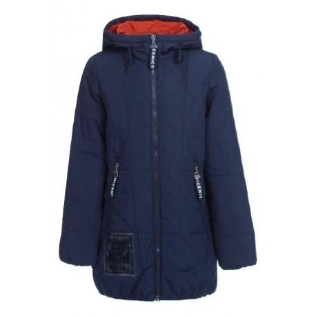 Tamsiai mėlyna striukė - paltas mergaitei pavasariui-rudeniui MSTR10019