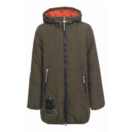 Khaki spalvos striukė - paltas mergaitei pavasariui-rudeniui MSTR10018