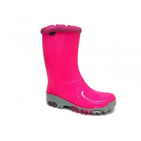Rožiniai guminiai batai 29-36 d. 33-492-rozfluo