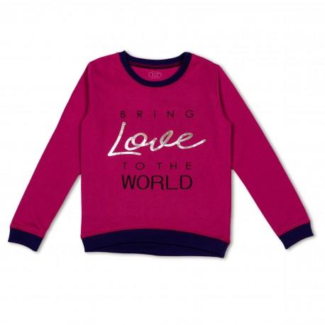 Violetinis FLAMINGO džemperis mergaitei MDZ10013