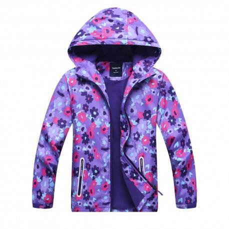 Neperšlampanti violetinė striukė pavasariui-rudeniui mergaitei MSTR10020