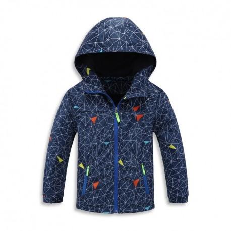 Neperšlampanti mėlyna striukė pavasariui-rudeniui berniukui BSTR10029