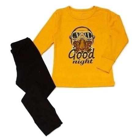 """Geltona FLAMINGO pižama berniukui """"Tigras"""""""