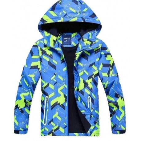 Neperšlampanti mėlyna striukė pavasariui-rudeniui berniukui BSTR10032