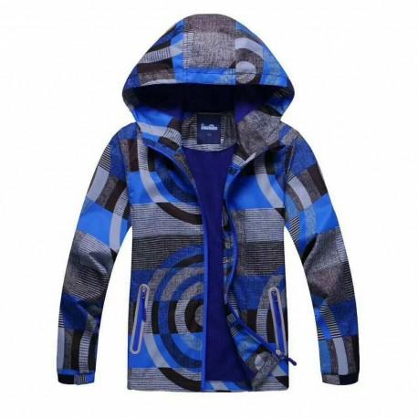 Neperšlampanti mėlyna striukė pavasariui-rudeniui berniukui BSTR10031