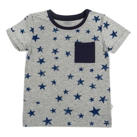 Pilki trumpomis rankovėmis FLAMINGO marškinėliai berniukui BMA10019
