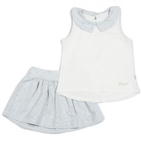 Komplektukas: berankovė palaidinė ir sijonas mergaitei FLAMINGO MKMP10001