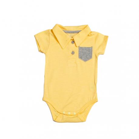 Geltonas trumpomis rankovėmis smėlinukas FLAMINGO SMI10059