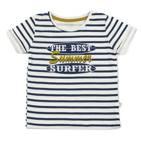 """FLAMINGO marškinėliai trumpomis rankovėmis berniukui """"Surfing"""""""