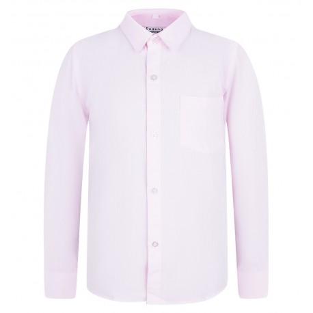 Rožiniai marškiniai ilgomis rankovėmis vaikinui BMA10026