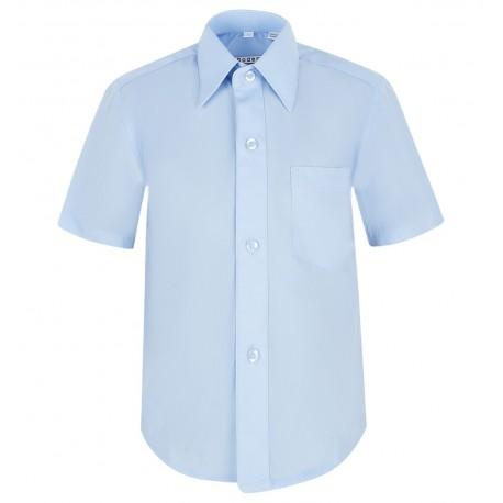 Mėlyni marškiniai trumpomis rankovėmis berniukui BMA10025
