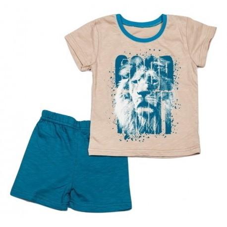 "Vasarinė trumpa pižama berniukui ""Liūtas"" BPI10009"