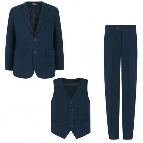 110-158 cm tamsiai mėlynas kostiumas / mokyklinė uniforma berniukui