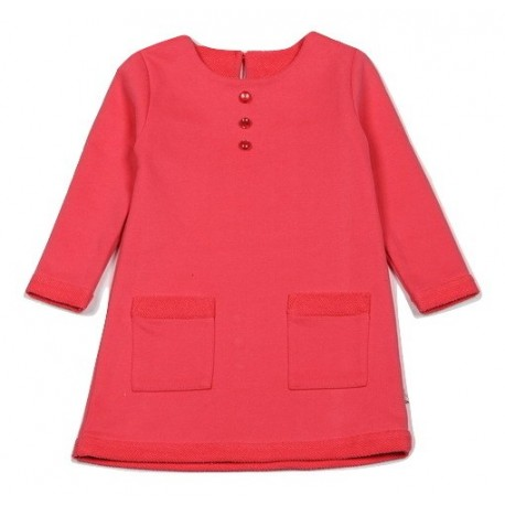 FLAMINGO šilta ryškiai rožinė suknelė ilgomis rankovėmis MS10044