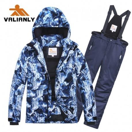 Mėlynas 2 dalių žieminis VALIANLY kombinezonas vaikinui 8827B