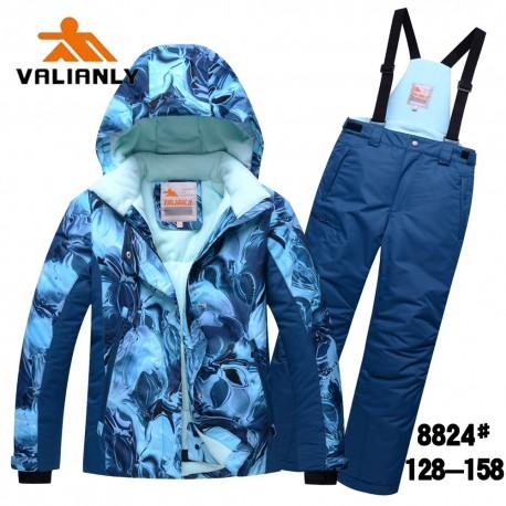 2 dalių žieminis mėlynas VALIANLY kombinezonas mergaitei 88244M