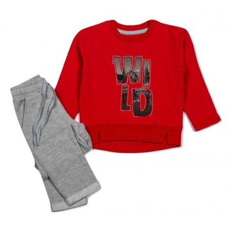Šiltas komplektukas: džemperis ir kelnės berniukui FLAMINGO BKMP10007