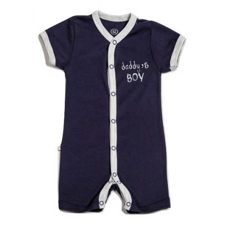 "Mėlynas trumpomis rankovėmis romperis ""Daddy's boy"" FLAMINGO"