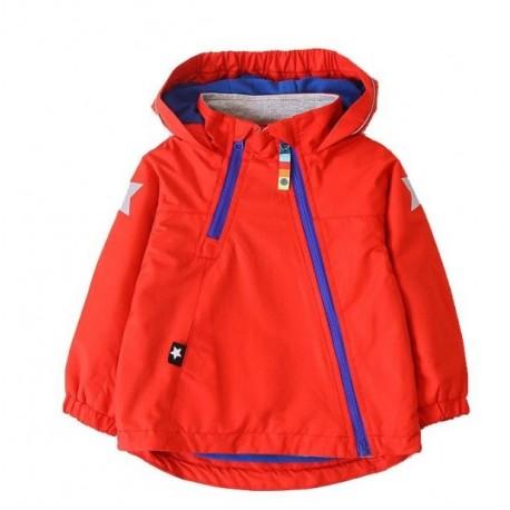 Plona raudona striukė vaikams pavasariui-rudeniui BSTR10033