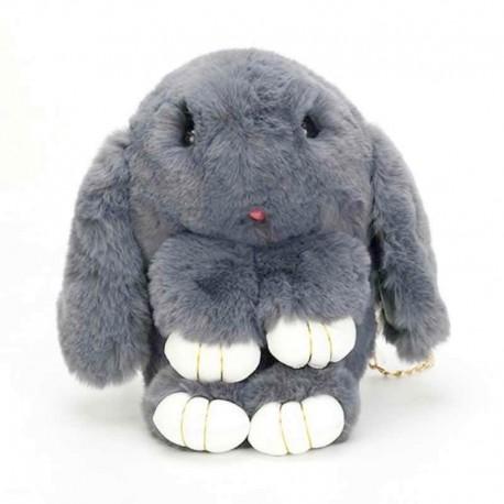 """Tamsiai pilka kuprinė /rankinė """"Kiškutis"""" Bunny1"""