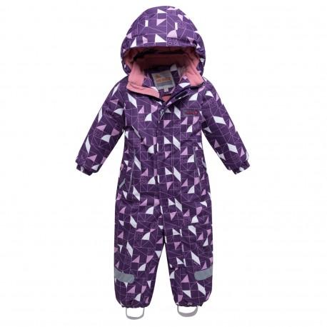 Vientisas violetinis žieminis VALIANLY kombinezonas mergaitei 8902/a