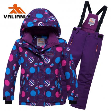 Violetinis 2 dalių žieminis VALIANLY kombinezonas mergaitei 8916/a