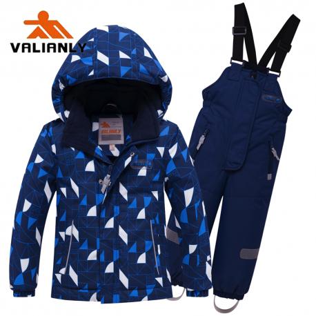 Mėlynas 2 dalių žieminis VALIANLY kombinezonas berniukui 8911