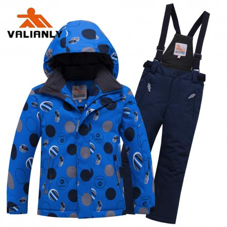 Mėlynas 2 dalių žieminis VALIANLY kombinezonas berniukui 8915/a