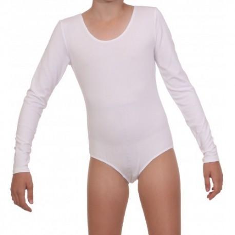 Baltas triko ilgomis rankovėmis